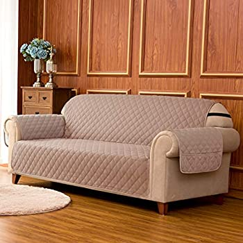 Amazon Com Subrtex Quilted Reversible Sofa Couch