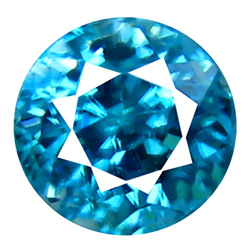 (Deluxe Gems 0.75 ct Oval Cut (5 x 5 mm) Untreated Cambodian Blue Zircon Natural Loose Gemstone)