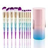 Best U-Beauty Liquid Foundation Brushes - Kabuki Makeup Brush Set,10PCS SONGQEE Unicorn Premium Synthetic Review