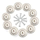 RilexAwhile Cabinet Knob, 10Pcs 33mm Dresser Cupboard Cabinet Drawer Knobs Wardrobe Door Pull Handle for Home Office