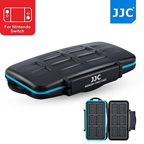 JJC 12+12 Slots Water-Resistant Game Card Case Memory Card Protector for 12 X Nintendo Switch NS (Mario Kart 8,Legend of Zelda) / Sony Playstation PS Vita (Batman,Persona 4 Golden)+12 X Micro SD/MSD (Kart Vita Mario Playstation)