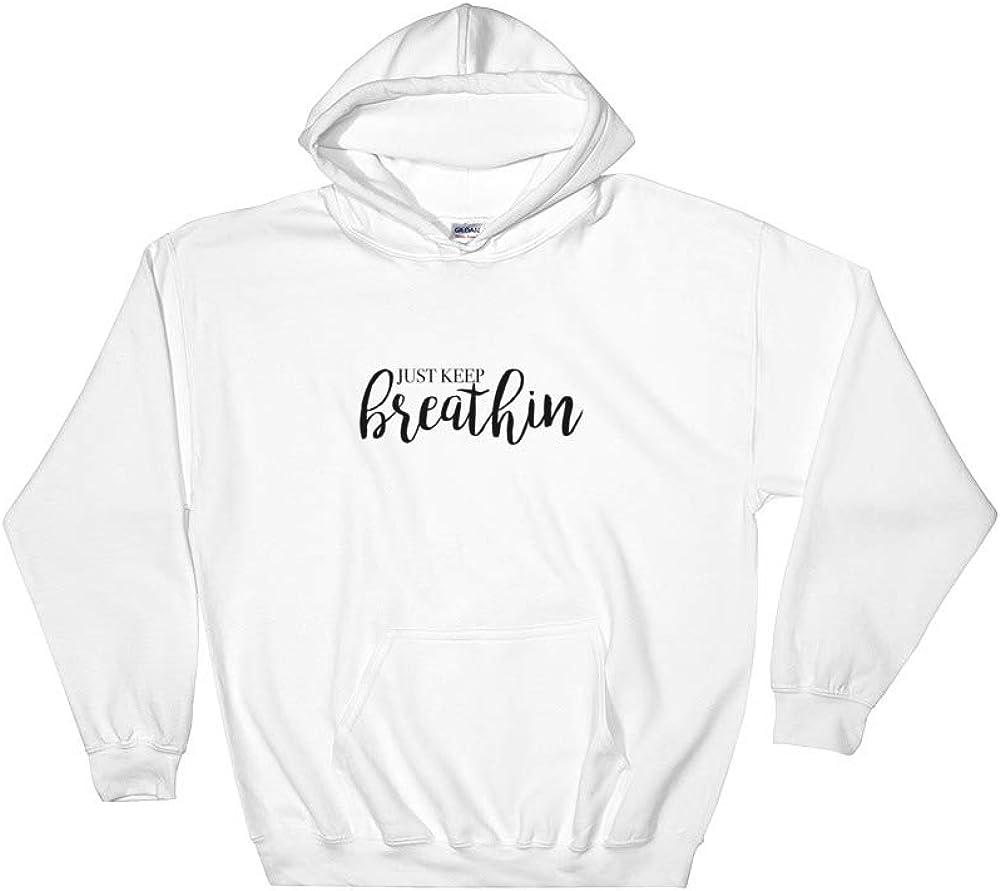 Cheeky Apparel Just Keep Breathin Hooded Sweatshirt