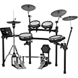 Roland High-performance, Mid-level Electronic V-Drum Set (TD-25KV) with 10' snare pad, 8' tom pad (x2) and 10' tom pad (x1), 12' crash v-cymbal (x2), KD-9 kick pad, and MDS-9SC stand