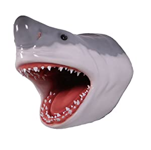 """Nautical Tropical Imports Great White Shark Head Large Trophy Wall Sculpture Decor 22"""""""