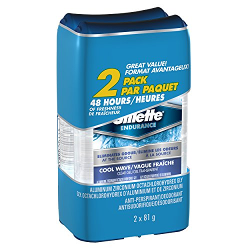 Gillette Endurance Clear Gel Cool Wave Antiperspirant 81 G Twin, 162.0g- Packaging May Vary