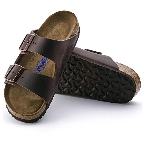 Birkenstock 452763 Arizona Habana Soft Footbed Nubuck Leather Greased - Narrow - All Sizes Brand New 5mVre5