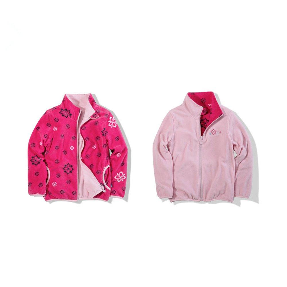 CosSky Big Girls Polar Fleece Jacket Reversed Outwear (Height/51-55inch, PC)