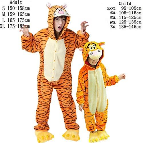 HITSAN Adult Unicorn Onesie Pajamas All in One Flannel Anime Pijama Girl  boy Cosplay Warm Sleepwear Hooded Homewear Women Animal Pajama Tiger Size  6XL  ... 1b6e76bb3