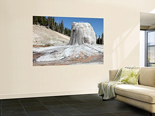 Third Geyser Basin - Lone Star Geyser Geyserite Cone, Third Geyser Basin Geothermal Area, Yellowstone National Park Wall Mural by Stocktrek Images 48 x 72in