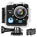 NEXGADGET 4K WiFi Action Cam 16MP 4K Waterproof Sports Camera 170 Degree Ultra Wide-Angle Len with Sony Sensor, 2 Pcs Rechargeable Batteries Review