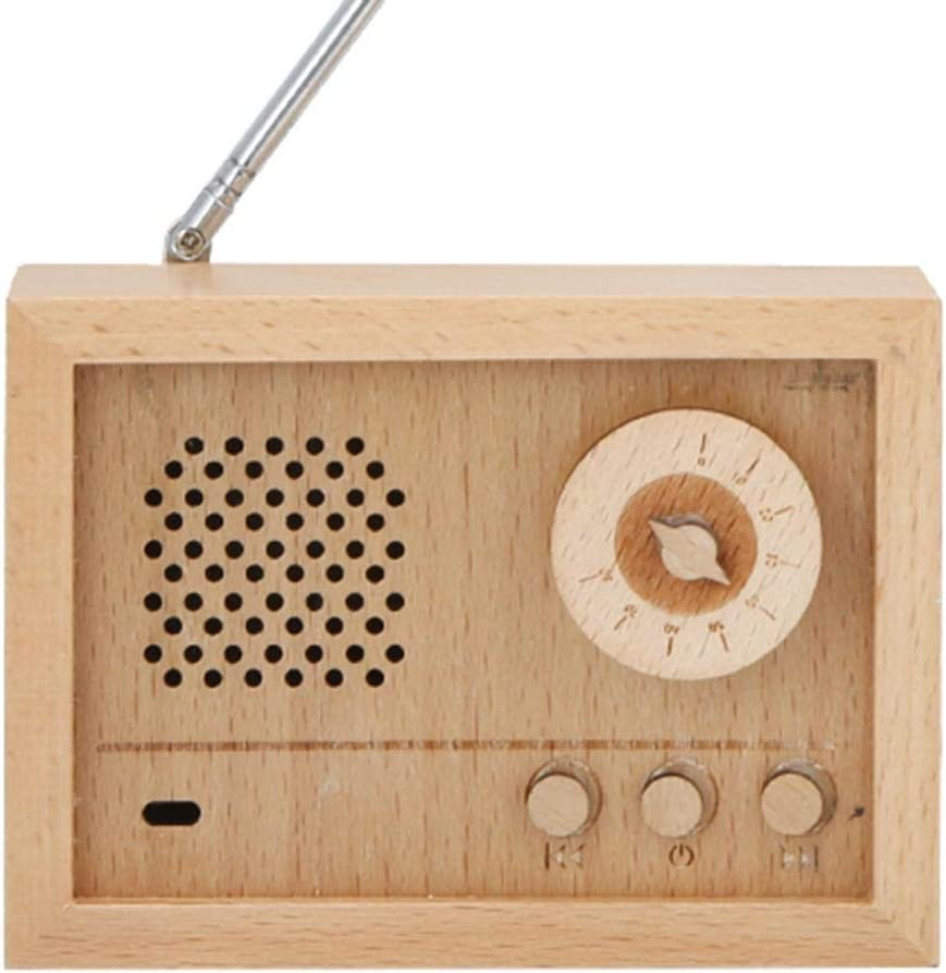 Radio Shape Wooden Music Boxs Birthday Gift for Children Girls Kids Friends Music Box Style B