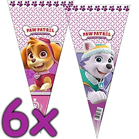 Nickelodeon 6 Bolsas de Fiesta * Paw Patrol - Rosa * para ...