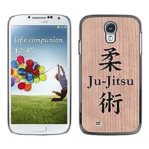 - / Ju-Jitsu Martial Arts Fighting Mma - - Funda Delgada Cubierta Case Cover de Madera / FOR Samsung Galaxy S4 i9500 i9508 i959 / Jordan Colourful Shop/
