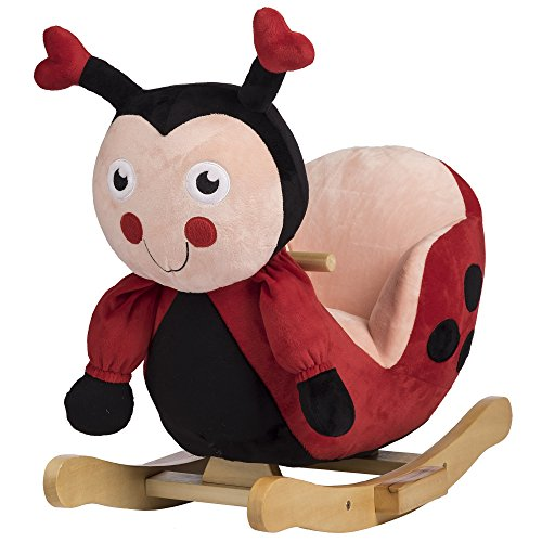 Rockin' Rider Lala The Ladybug Baby Rocker Plush Ride-On, Red by Rockin' Rider (Image #1)