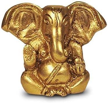 artefatto Statua in ottone indiano Scultura religiosa realizzata a mano da Ganesha collezione preziosa Metallo Ganpati in ottone massiccio 2 Modern effetto anticato Ganesh gold finitura in ottone regalo religioso,
