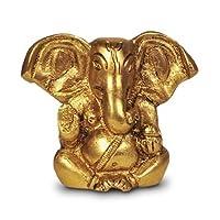 Ganesh, ganpati, ottone Statua indiano Handcrafted scultura religiosa di Ganesha, effetto anticato in ottone massiccio scultura artefatto, collezione Vintage Decorative, Preziosi, finitura in ottone, a mano religiosa regalo,