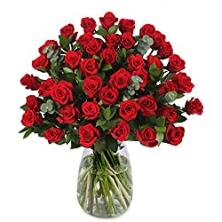 40 Red Roses for Valentine's Day