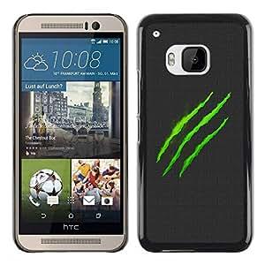 Caucho caso de Shell duro de la cubierta de accesorios de protección BY RAYDREAMMM - HTC One M9 - Monster Logo
