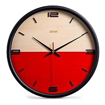 Moderne Minimalist Wanduhr Aus Holz Hängend Uhr Flüsterleise Wohnzimmer  Runde Hänge Uhr Wanddekoration Für Wohnzimmer/