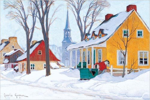 Canvas by Clarence Alphonse Gagnon, Winter Morning in