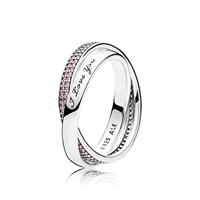 37164b39b Pandora Women Silver Promise Ring - 196546PCZ-54: Amazon.co.uk: Jewellery