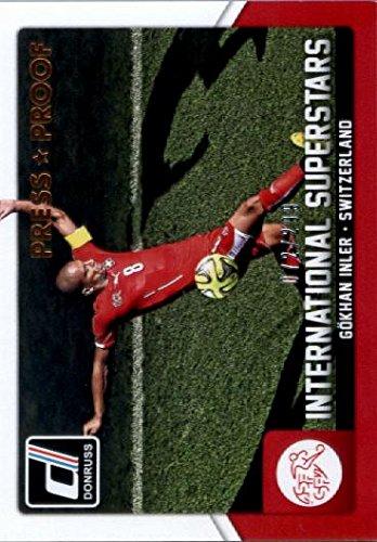 2015 Donruss International Superstars Press Proof Bronze #18 Gokhan Inler /299 Soccer Card at Amazons Sports Collectibles Store