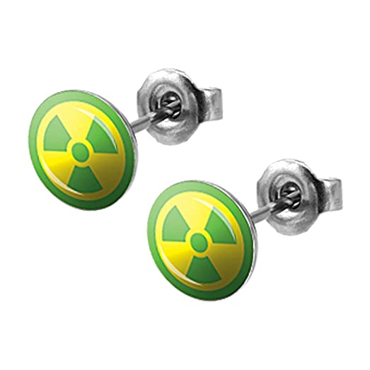 Amazon Official Marvel Gamma Radiation Logo Hulk Stud Earrings