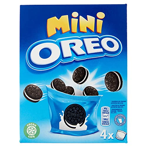 Oreo, Mini Chocoladekoekjes met witte crèmevulling, 160 g