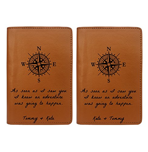 Couple Passport Holder - Free Personalization - Set of 2 - Couple Collection by With Love From Julie