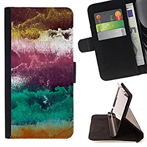 Jordan Colourful Shop - plum purple abstract clouds art For Apple Iphone 6 PLUS 5.5 - Leather Case Absorci???¡¯???€????€???????&bdquo