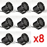 Baisun Outdoor Garden Landscape Wall Tree LED Moving Snowflake Laser Light Christmas Hoilday Decoration Projector Light (RGBW Snow Laser Light8pcs)