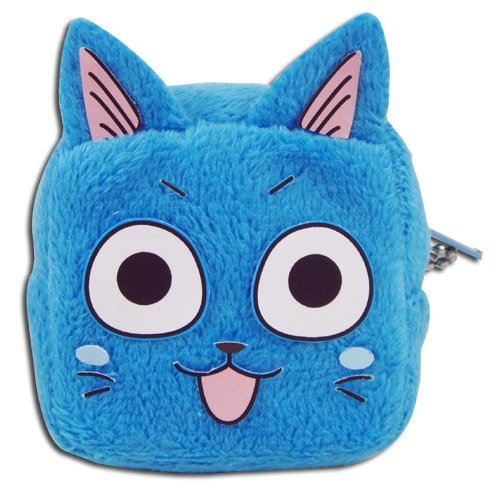 Fairy Tail Coin Purse - Happy Cube Face by Fairy Tail