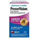 Bausch & Lomb PreserVision Eye Vitamin Supplement (180 ct.) (pack of 6)
