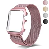 Chouqing apple watch band Milanese Loop Replacement Band with Metal protect Case for Apple Watch 38mm Series 3 Series 2 Series 1 Sport & Edition - Rose Gold