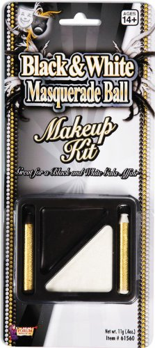 Forum Novelties Black & White Masquerade Ball Make-Up Kit