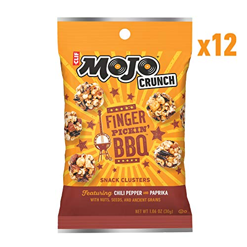 CLIF Bar Mojo Crunch Clusters - Sweet and Salty Snack - Fingerpickin' Barbeque - (1.06 Ounce Pouch, 12 Count)