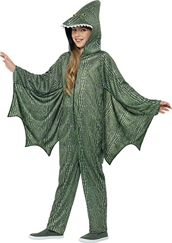 Smiffy's Pterodactyl Dinosaur Costume, Green, (Pterodactyl Costume Size 6)