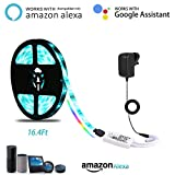 LED Strip Lights,LANMU LED Rope Light compatible with Alexa, LED Backlight Color Changing Lights with Remote Control for Google Home,Google Assistant,IFTTT,for Indoor Decoration/Home Lighting/Kitchen/TV