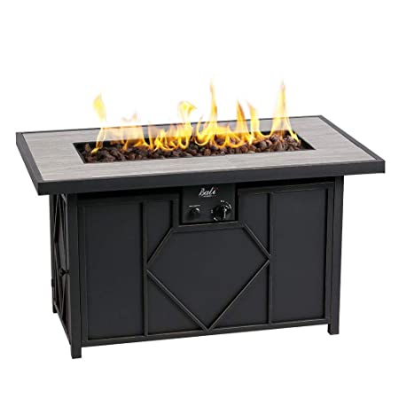 BALI OUTDOORS Propane Gas Fire Pit Table Rectangular Tabletop 60,000BTU