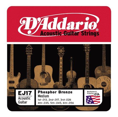 D'Addario EJ17x5 , Acous Guit Strings, Phos/Brnz Rnd Wnd, Me