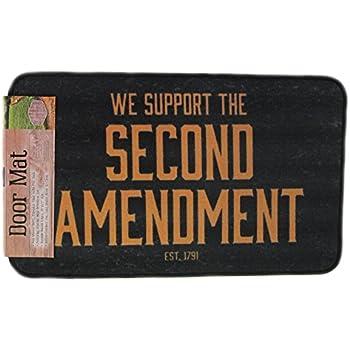 Amazon Com Second Amendment Door Mat Garden Amp Outdoor