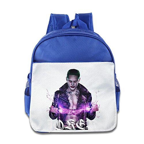 XJBD Custom Superb Suicide Squad Joker Straight Kids Shoulders Bag For 1-6 Years Old RoyalBlue