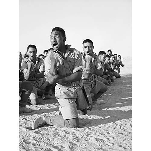 WWII War Maori Battalion Haka Egypt 1941 Photo Large Wall Art Poster Print Thick Paper 18X24 Inch