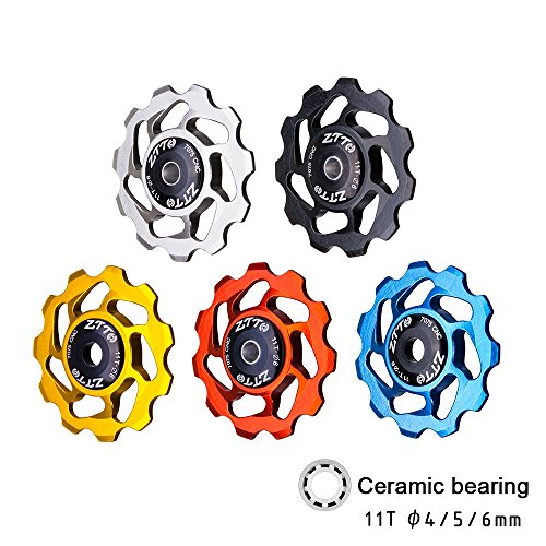 11T Bicycle Rear Derailleur Jockey Wheel Bearing Pulley Guide Roller Idler for Road Bike MTB