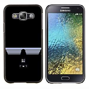 KLONGSHOP // Cubierta de piel con cierre a presión Shell trasero duro de goma Protección Caso - Darth Vad3R - Guerra de las Galaxias - Samsung Galaxy E5 E500 //