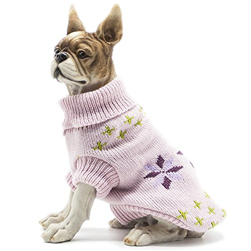 HAPEE Pet Clothes the Flowers Cat Dog Sweater , Dog Accessories, Dog Apparel,Pet Sweatshirt