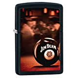Jim Beam Black Matte Zippo Outdoor Indoor Windproof Lighter Free Custom Personalized Engraved Message Permanent Lifetime Engraving on Backside