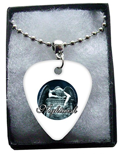 Nightwish Metal Guitar Pick Necklace Ball Chain Collier Médiator