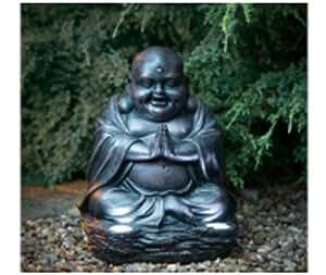 Impresionante jardín Buda, funciona con energía solar se ilumina de noche