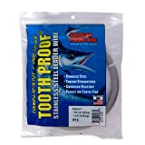 #3: American Fishing Wire Tooth Proof Stainless Steel Single Strand Leader Wire